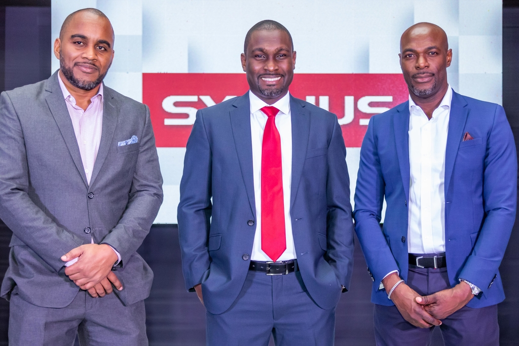 L-r: Kevin Donaldson, CEO Sagicor Investments, Dr. Ike Johnson, Executive  Vice President with responsibility for Private Equity & Real Estate, Sygnus and Berisford Grey, President & CEO Sygnus.