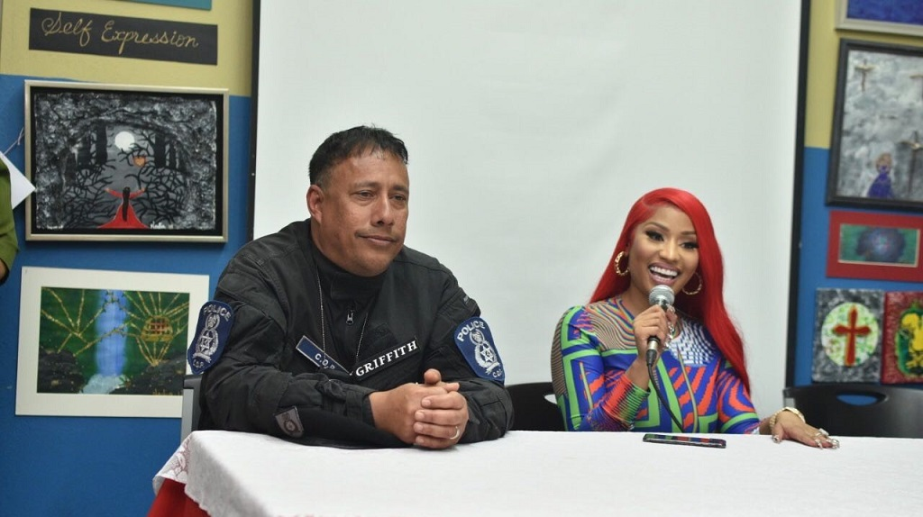 TT Police Commissioner Gary Griffith and Nicki Minaj