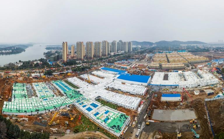 Photo aérienne prise le 2 février 2020 du nouvel hôpital construit en dix jours à Wuhan.