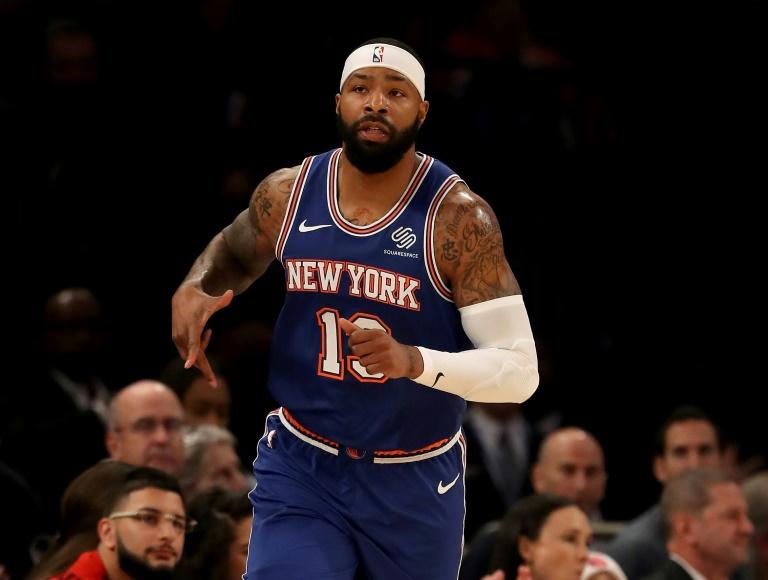 Marcus Morris Sr, sous le maillot des New York Knicks, le 5 décembre 2019 contre les Nuggets de Denver au Madison Square Garden