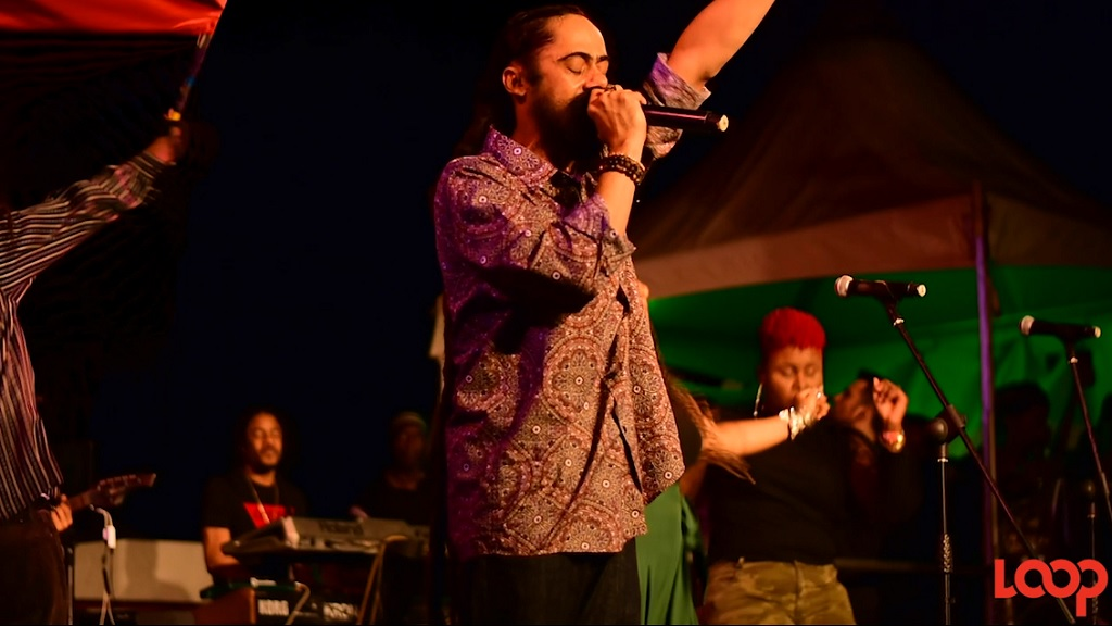 Damian Marley performs at the Bob Marley Museum during a 75th birthday anniversary celebration for his late father.
