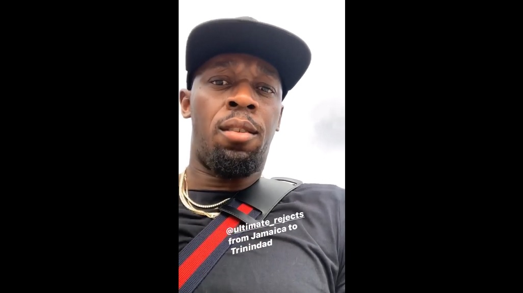 Watch: Bolt touches down for Trinidad Carnival
