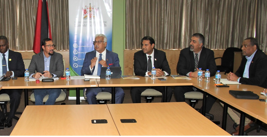 Minister of Health Terrance Deyalsingh and Minister of National Security Stuart Young have met with health professionals to discuss the coronavirus.