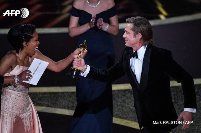 Brad Pitt ému, les Obama à l'honneur: les temps forts des Oscars. Photo: AFP