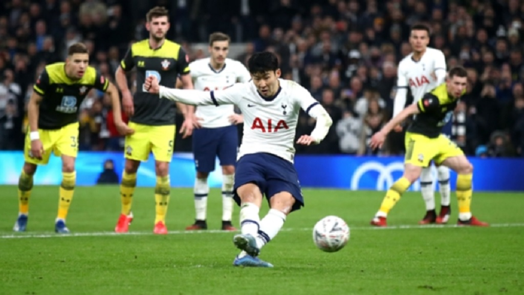 Son Heung-min scored from the penalty spot to knock out Southampton.