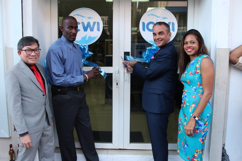 L-R: The Insurance Company of the West Indies' (ICWI) Vice President, Strategic Planning, Patrick Willams;  General Manager, Dominica Branch, Earl Edwards; President, Paul Lalor and Assistant Vice President of Insurance Operations, Jamila Taylor were all smiles during a ribbon cutting exercise, symbolling the commencement of operations in Dominica on Saturday, January 18, 2020 at the new ICWI branch at 21 King George V Street.
