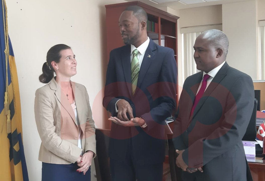 (L-R Chief Executive of Concordia UK, Stephanie Maurel, Labour Minister Colin Jordan and Head of CJNM Consulting, Christopher Griffith)