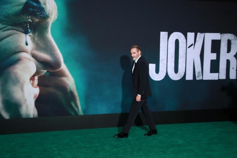 """Joaquin Phoenix à la première du """"Joker"""" à Hollywood, le 28 septembre 2019 afp.com - Rich Fury"""