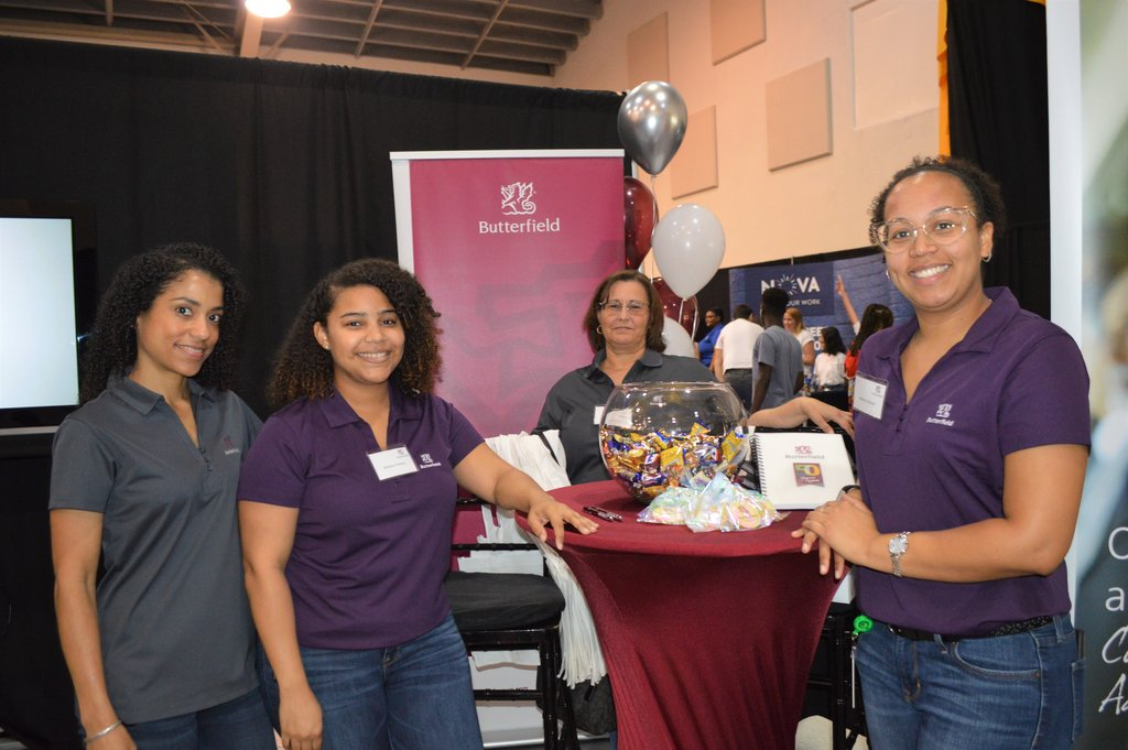 Butterfield Bank at last year's Career Expo