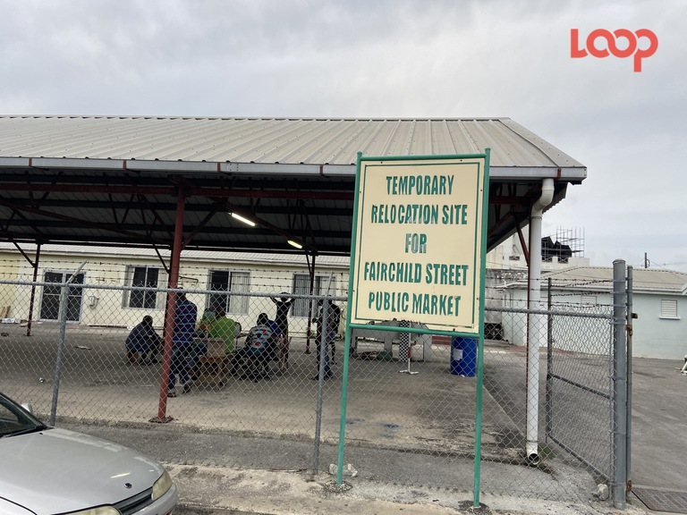 The temporary market on Probyn Street will be demolished from Monday, as part of the Bridgetown Transformation Project.