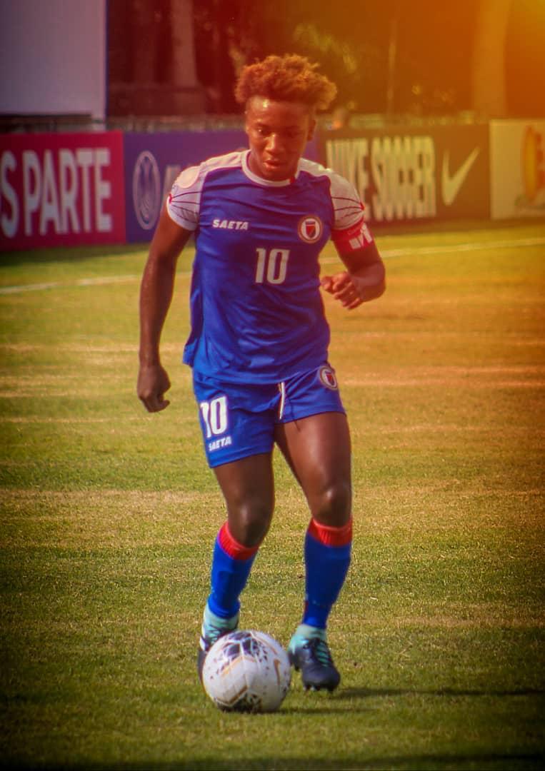 Melchie Daelle Dumornay, buteuse et passeuse décisive ce jeudi contre Trinidad and Tobago (7-0).