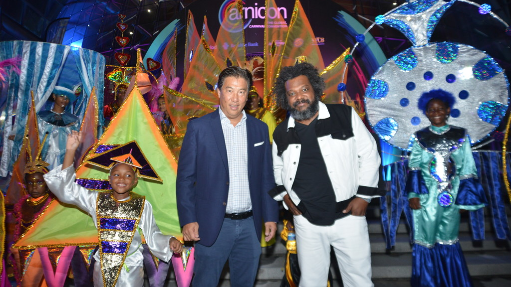 Chariman of Trinidad Tourism Howard Chin Lee with Bonin Baugh, feature speaker at the launch.