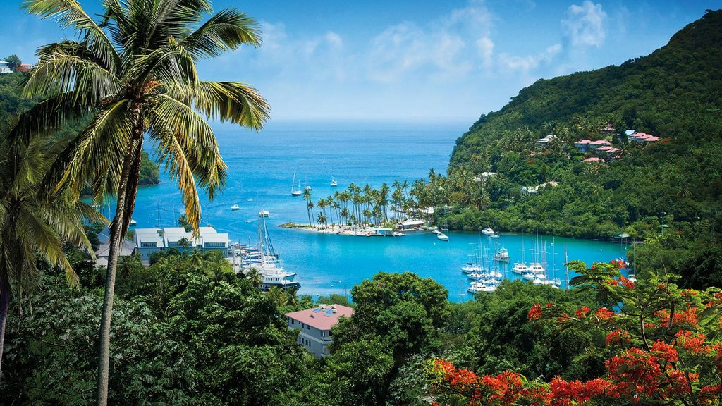 Marigot Bay, St Lucia. Photo courtesy www.caribbeantravel.com