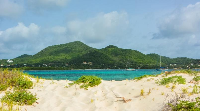 A view of Carriacou from Sandy Island, Grenada (Aisha Sylvester)