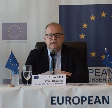 First Head of the European Union (EU) Election Observation Mission (EOM) to Guyana, Urmas Paet. Photo: Department of Public Information