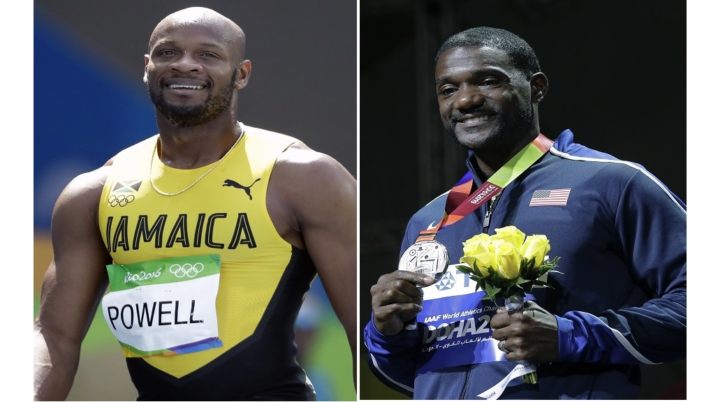 Combination of photos showing Jamaica's Asafa Powell (left) and the USA's Justin Gatlin. (Photos: AP)