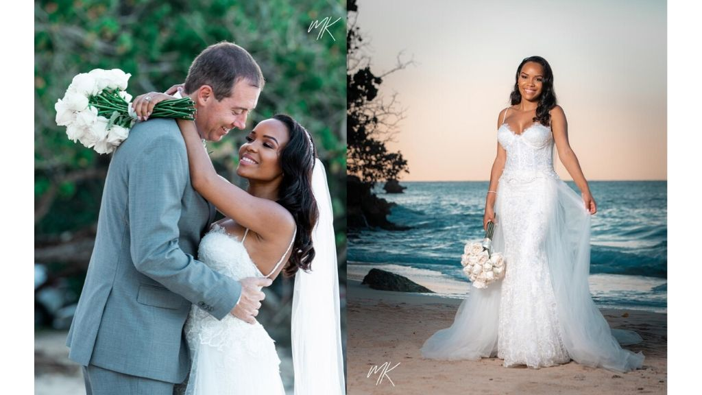 Doug and Shanice in wedding photos post 'I do's'. (Photos: Matthew Khoury)