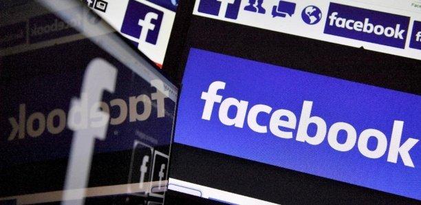 Un logo de Facebook qui a promis 100 millions de dllars d'aide aux médias impactés par le nouveau coronavirus. AFP/Archives