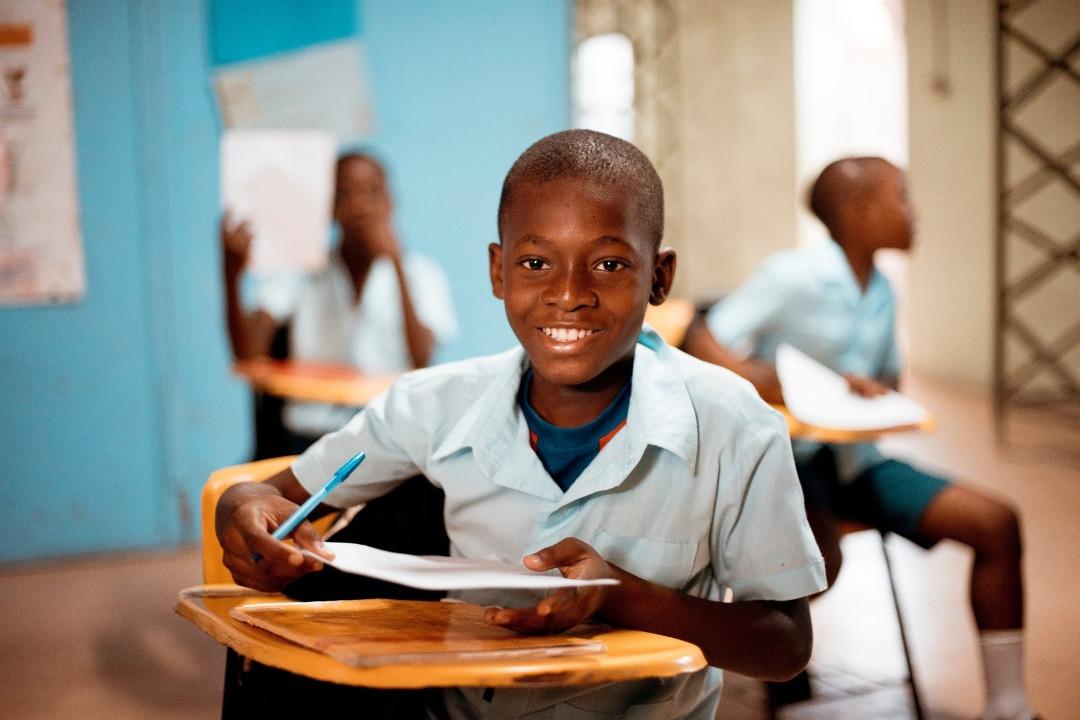 Un écolier haïtien/ Crédit Photo : MENFP