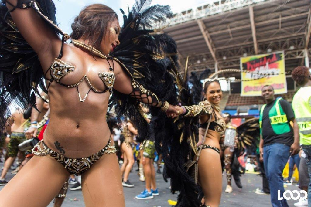 Wire bras, thongs and g-strings were banned in recent guidelines for Grenada's Spicemas. Organisers have since retracted the guidelines. Photo: Bliss masquerader in Port-of-Spain.