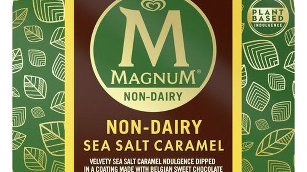 Magnum Non-Dairy Sea Salt Caramel features a velvety non-dairy sea salt caramel base coated in a cracking non-dairy chocolate shell