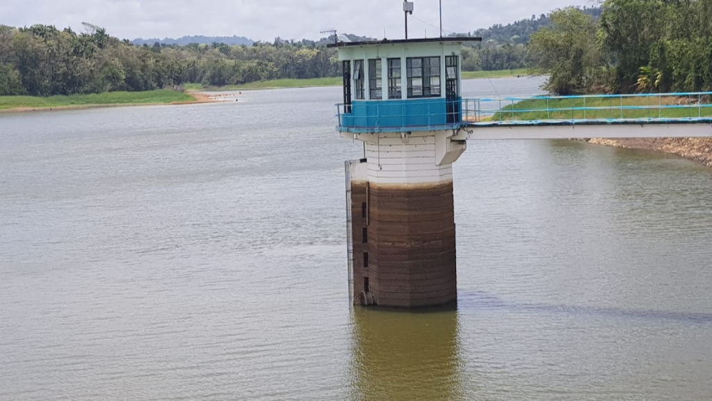 Photo: A photo shared by WASA via social media in April 2019 showed lower-than-normal water levels at the Navet Reservoir.