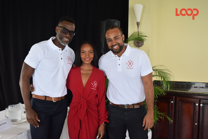 (From Left): Corin Bailey, co-director of Esquire Entertainment; Janelle 'Jin' Forde, co-founder and head designer of Vida Barbados; Ryan Forde, co-founder and owner of Vida Barbados.