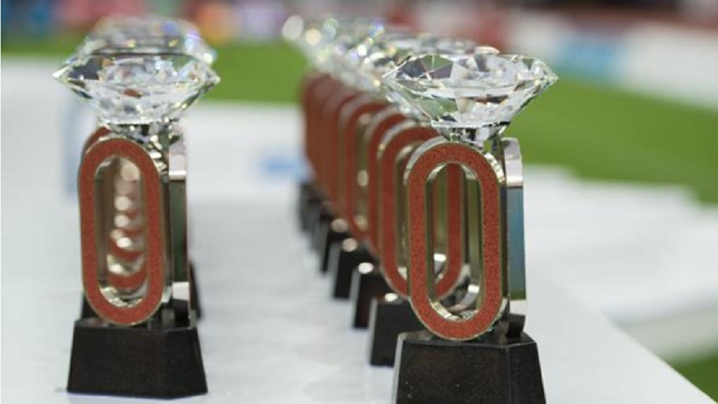 Diamond League trophies. (PHOTO: World Athletics).
