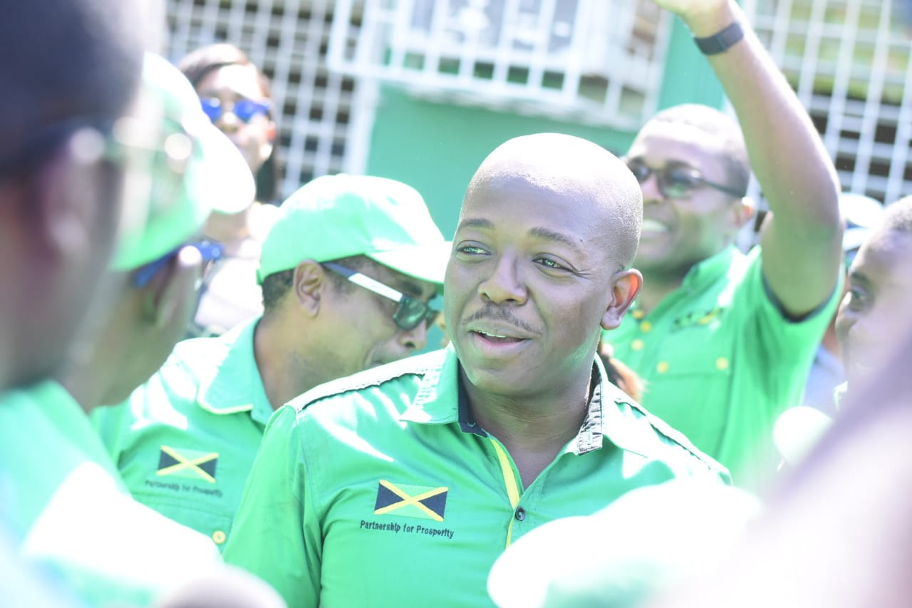 Pearnel Charles Jnr is pictured after being nominated as the JLP candidate for the March 2 South East St Andrew by-election. (Photos: Marlon Reid)