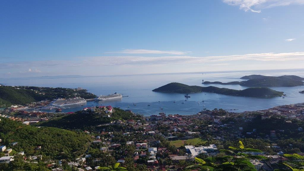 A view of the Charlotte Amalie harbour, St Thomas.