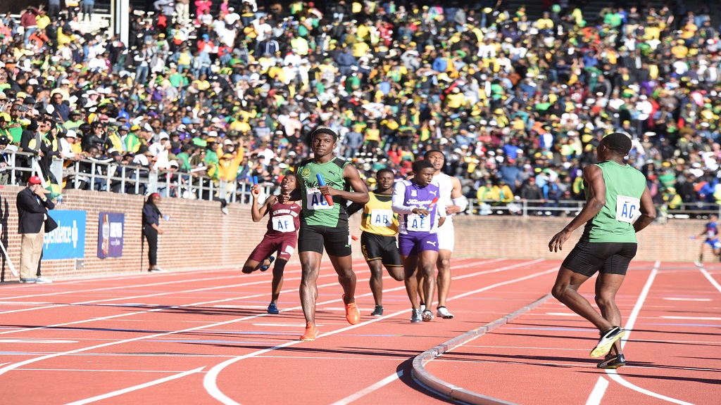 Jamaica's high school athletes competing at the 2019 Penn Relays  at the University of Pennsylvania.