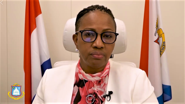 Prime Minister of Sint Maarten Silveria Jacobs.