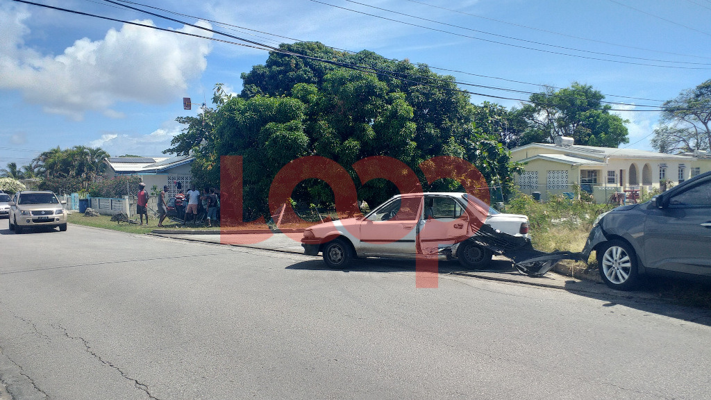 Two separate accidents at junction of Market Road in St. Philip