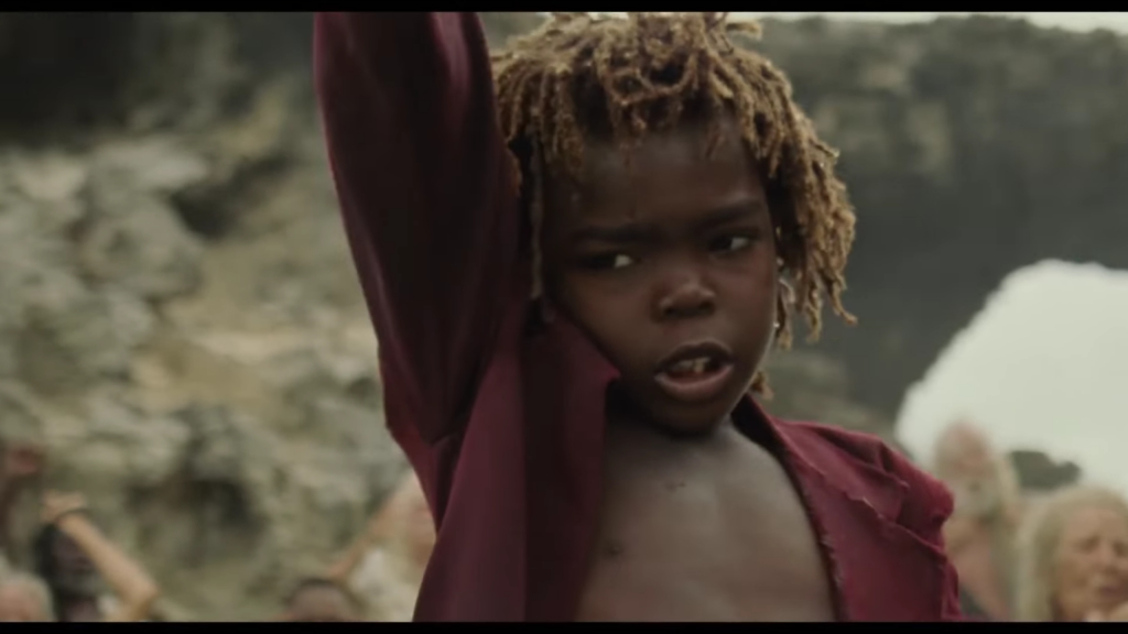 Yahswa Mack from Antigua plays Peter Pan in the new Wendy movie