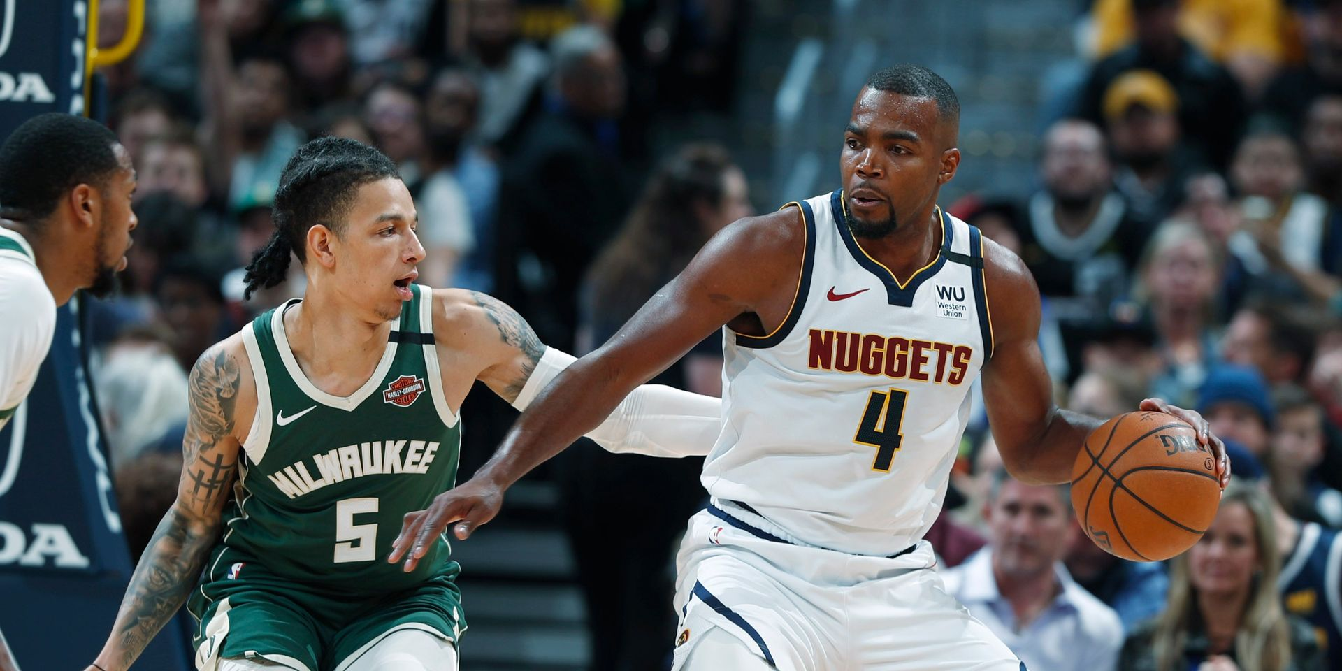NBA: 3e défaite consécutive pour Milwaukee, dominé par Denver. Photo: AFP