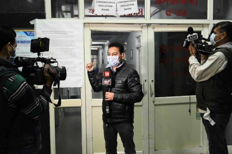 Point d'information sur le Coronavirus à la télévision indienne, le 7 mars 2020 depuis un hôpital à Amritsar