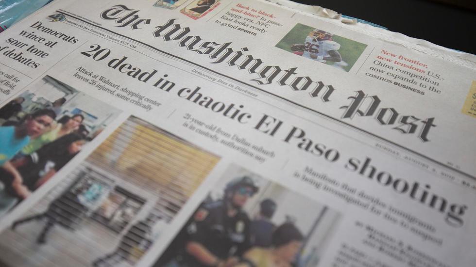 Comme d'autres journaux dans le monde, le Washington Post (ici le 6 août 2019) met gratuitement à disposition des lecteurs des articles normalement réservés aux abonnés afp.com - Alastair Pike