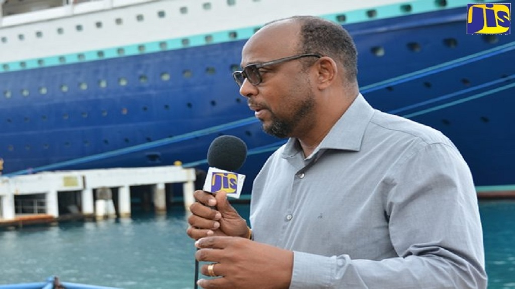 Chairman of the St Ann Municipal Corporation, Michael Belnavis, at the Ocho Rios port. (Photo: JIS)