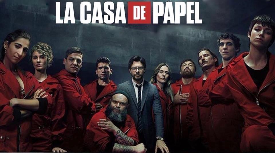 La couverture de la serie Casa de Papel.