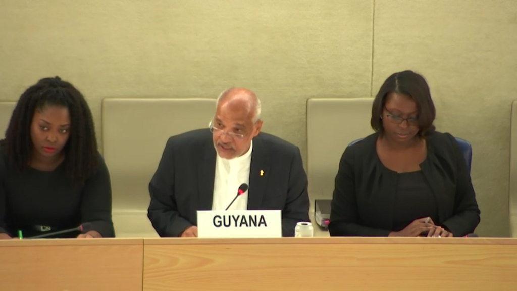 Guyana's Permanent Representative to the United Nations in Geneva, John Deep Ford
