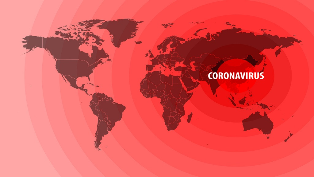 iStock illustration of the spread of the novel coronavirus from China to around the world.