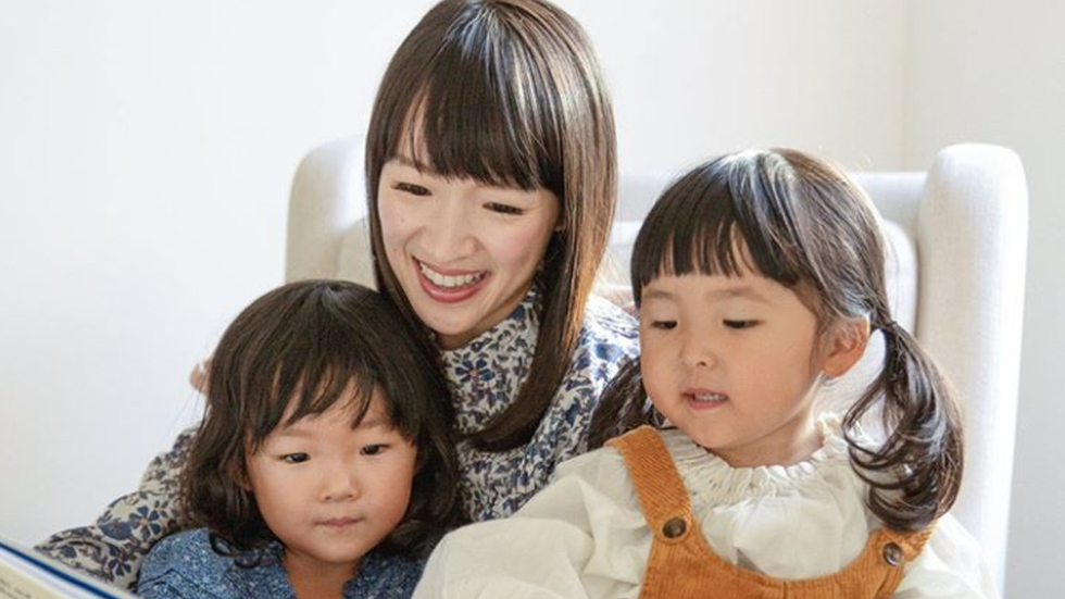 Marie Kondo with her kids.