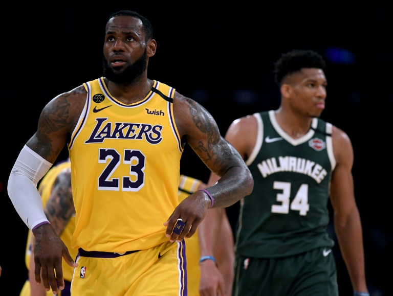 LeBron James (N.23), des Los Angeles Lakers, en NBA lors du match gagné contre les Milwaukee Bucks le 6 mars 2020 au Staples Center de Los Angeles