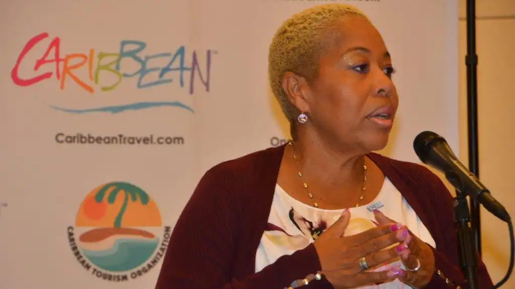 British Virign Island Director of Tourism Sharon Flax Brutus.