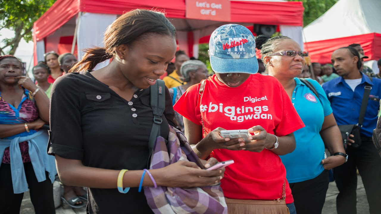 Digicel customers browsing for free on zero-rated government websites.