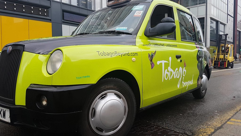 These Tobago Beyond Ordinary cabs were part of the Tobago Tourism Agency's marketing thrust in London