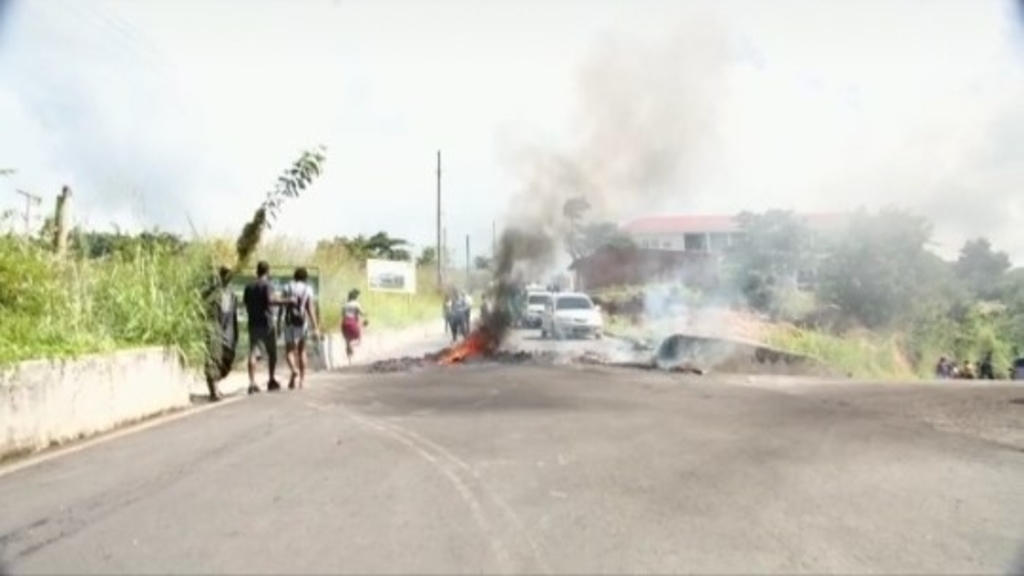 Protest action in Dominica