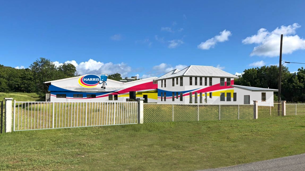 A render of the planned, state-of-the-art Harris Paints Factory in Antigua.