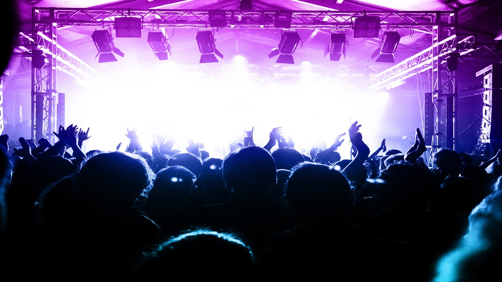iStock photo of a crowd at a live music event.