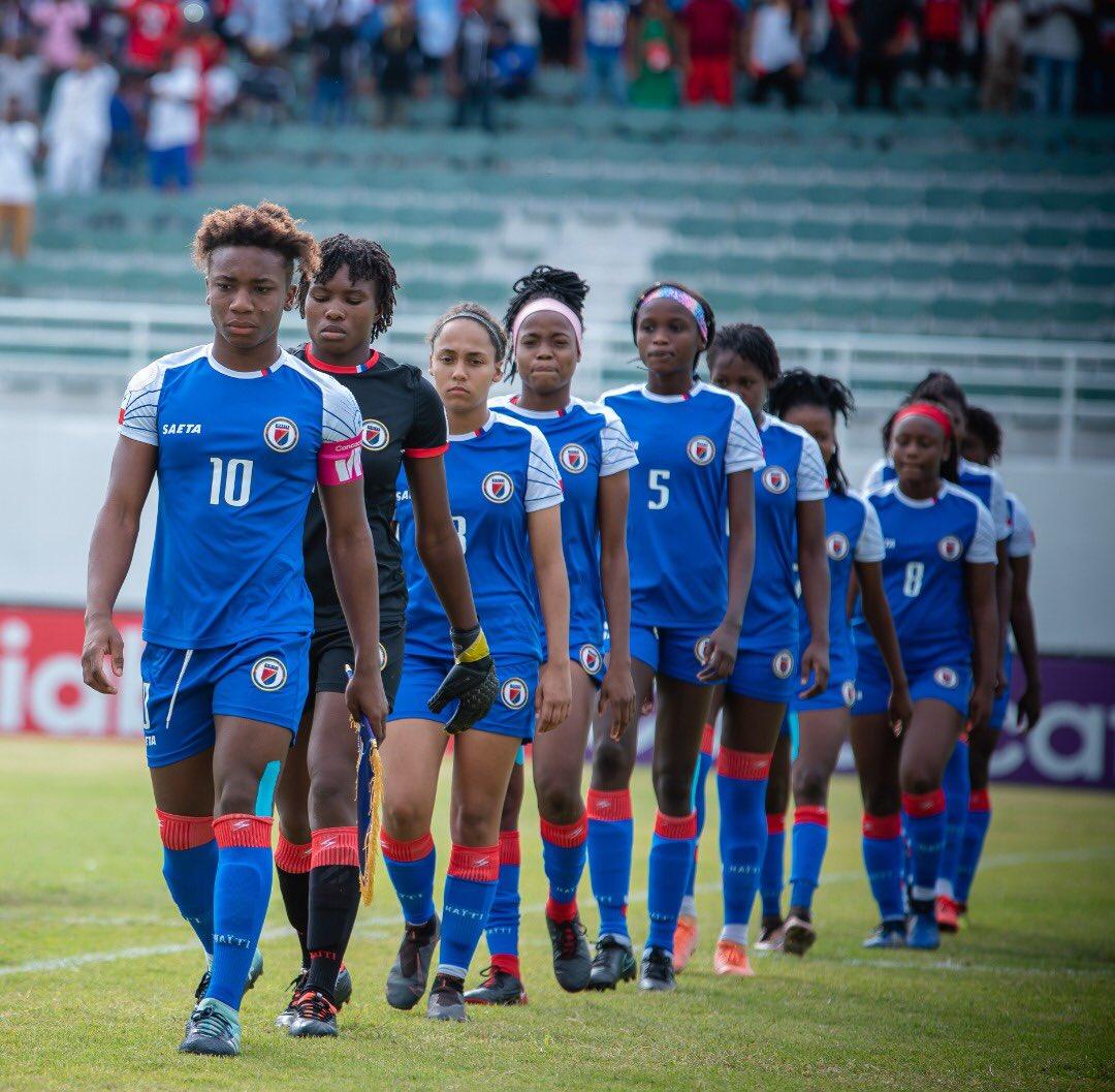 La sélection haïtienne de football aux éliminatoires de la coupe du monde U-20. Photo : Foot au Féminin